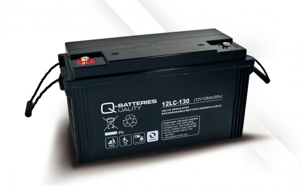 Q-Batteries 12LC-130 / 12V - 128Ah AGM Akku