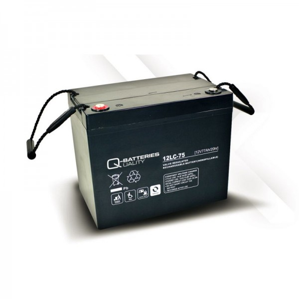 Q-Batteries 12LC-75 / 12V - 77Ah AGM Akku