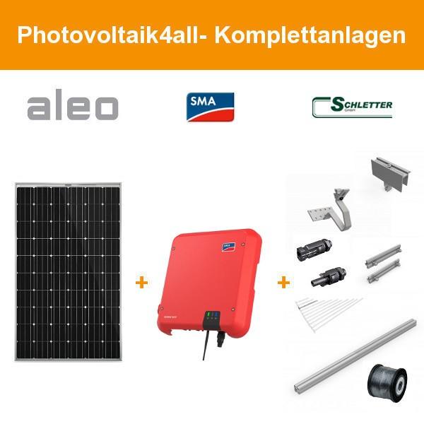 Solarpaket M - 3,600 kWp Aleo Solar Komplettanlage