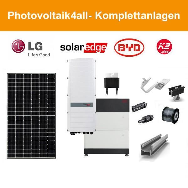 10 kWp LG PV-Anlage + SolarEdge Hybrid + BYD LVS