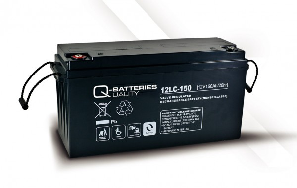 Q-Batteries 12LC-150 / 12V - 160Ah AGM Akku
