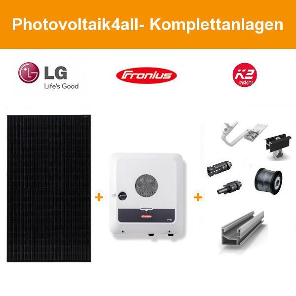 5,625 kWp Photovoltaikanlage LG Solar NeON H Black + Fronius GEN24 Plus