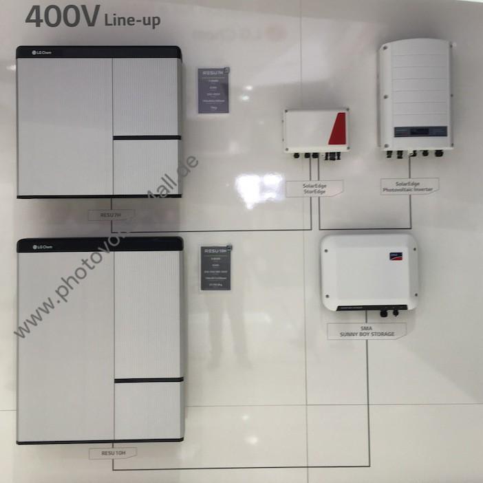 Installation LG Chem RESU 400V mit SMA und SolarEdge