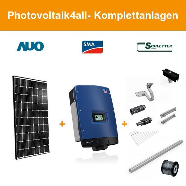 9,900 kWp BenQ SunVivo PM060MW2 300W schwarz - Photovoltaikanlage