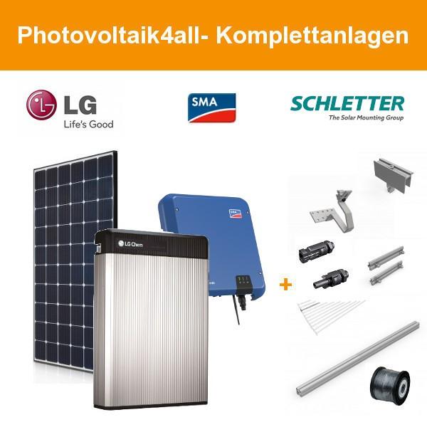 5 kWp LG Solar NeON 2 + LG Chem RESU 6.5 Speicher