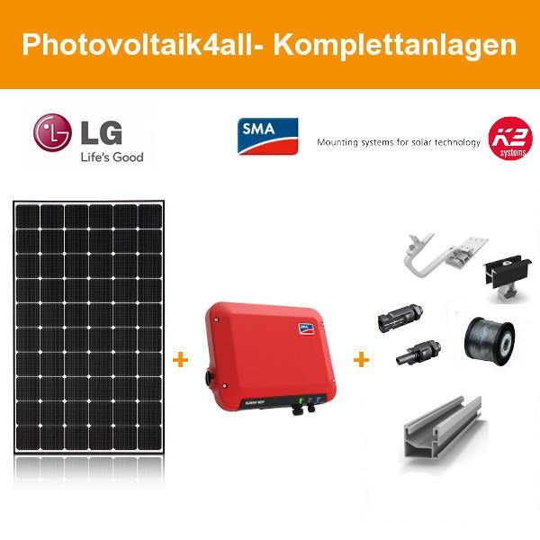 1,5 kWp LG Solar LG360N1C-N5 NeON 2 - SMA Photovoltaikanlage