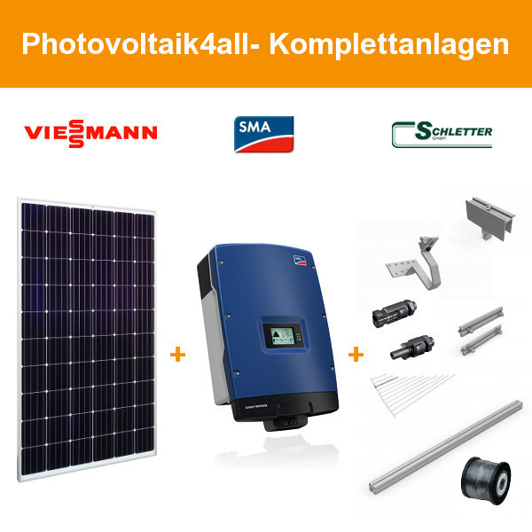 10 kwp viessmann vitovolt 300 sma photovoltaikanlage. Black Bedroom Furniture Sets. Home Design Ideas