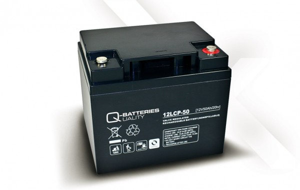 Q-Batteries 12LCP-50 / 12V - 50Ah AGM Akku