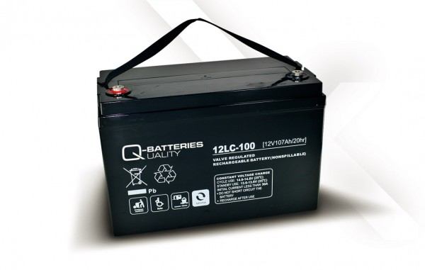 Q-Batteries 12LC-100 / 12V - 107Ah AGM Akku