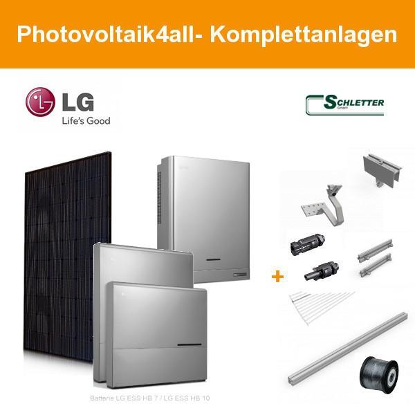 8 kWp LG Solar Photovoltaikanlage + LG ESS Home 8