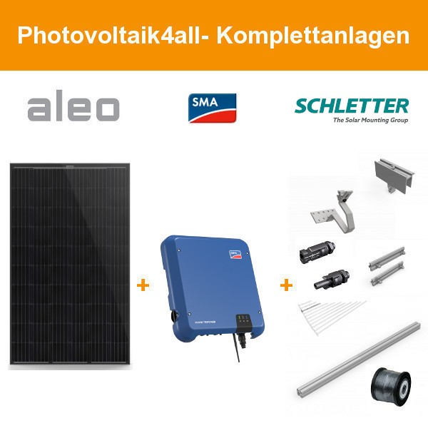 Solarpaket XL - 9 kWp Aleo Solar Komplettanlage