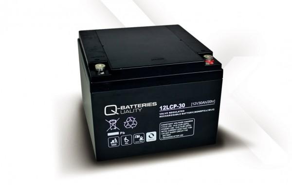 Q-Batteries 12LCP-30 / 12V - 30Ah AGM Akku