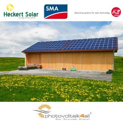 30 kWp Photovoltaikanlage Heckert