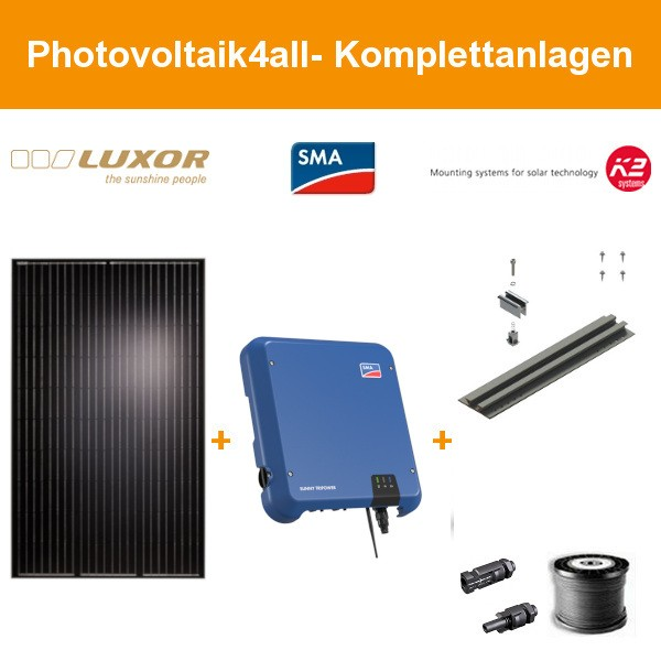 8,680 kWp Luxor mono 300 Wp - Photovoltaikanlage auf Trapezblech