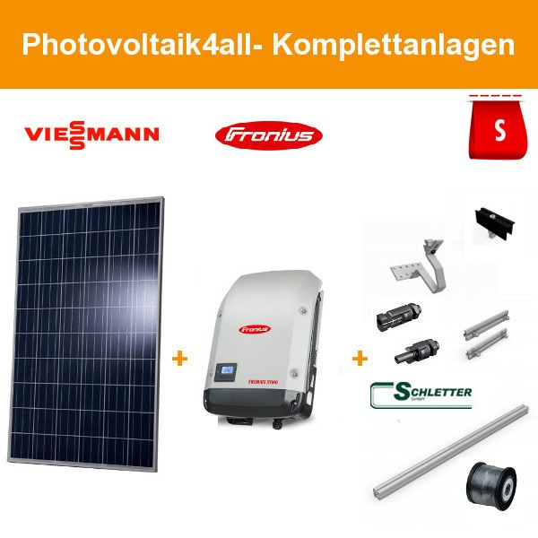 Solarpaket S - 3 kWp Viessmann Photovoltaikanlage
