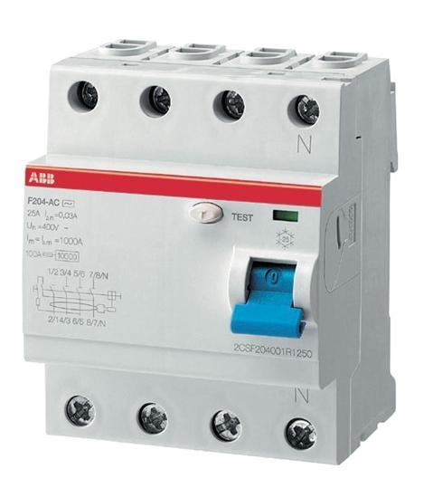 ABB FI-Schutzschalter 40A 4polig F204 A-40/0,3
