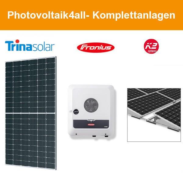 12 kWp Trina Solar Flachdach Ost-West