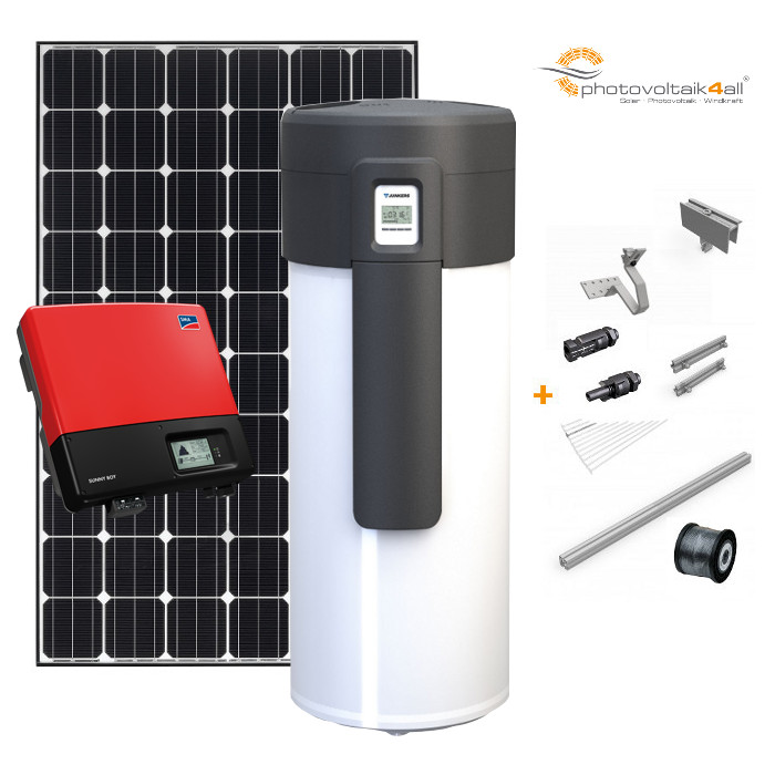 warmwasser mit w rmepumpe und solarstrom i photovoltaik4all online shop. Black Bedroom Furniture Sets. Home Design Ideas