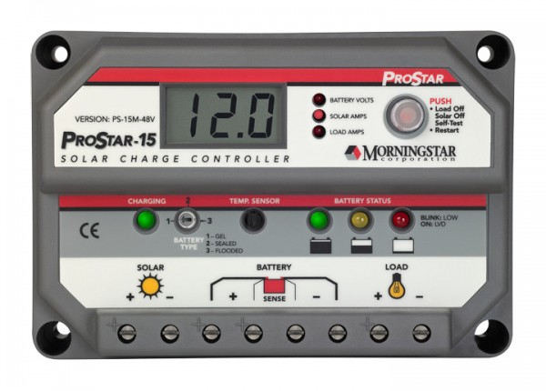 Morningstar ProStar PS-15M-48V-PG Solar Charge Controller