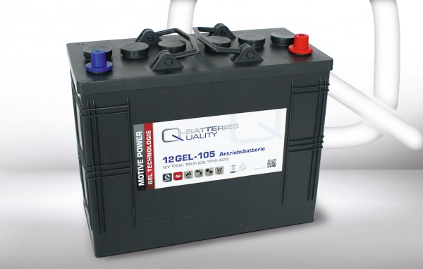 Q-Batteries 12GEL-105 / 12V - 105Ah Gel Akku