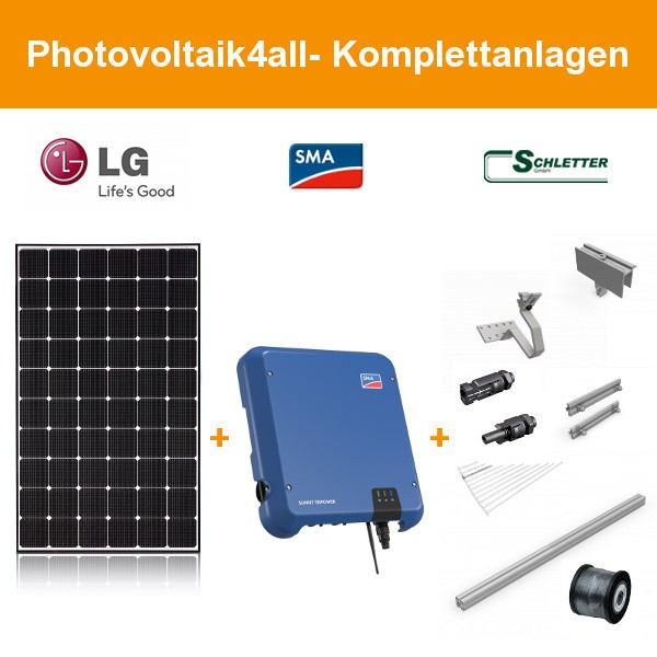 6 kWp LG Solar LG345N1C-A5 NeON 2 - SMA Photovoltaikanlage