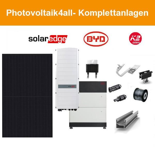 10 kWp SolarEdge Smart PV-Anlage + BYD LVS Speicher