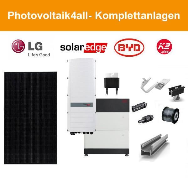 10 kWp LG Black PV-Anlage + SolarEdge Hybrid + BYD LVS