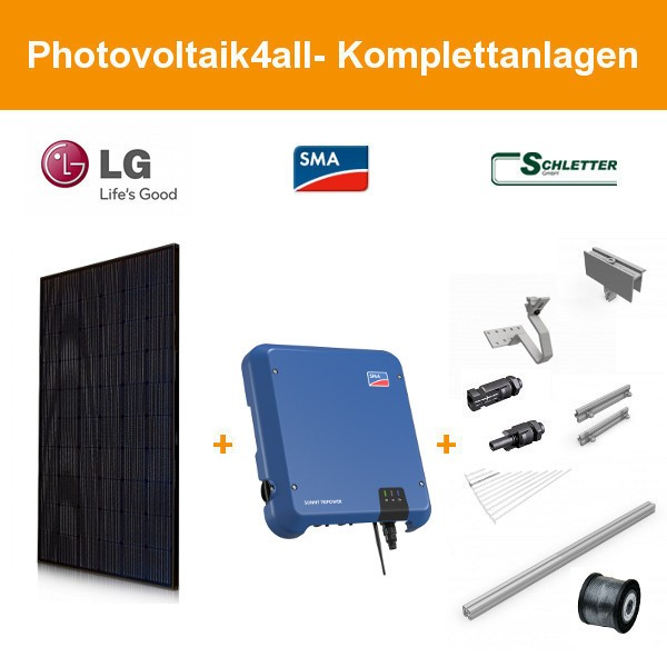 6 kWp LG340N1K-V5 NeON 2 Black Cello - SMA Photovoltaikanlage