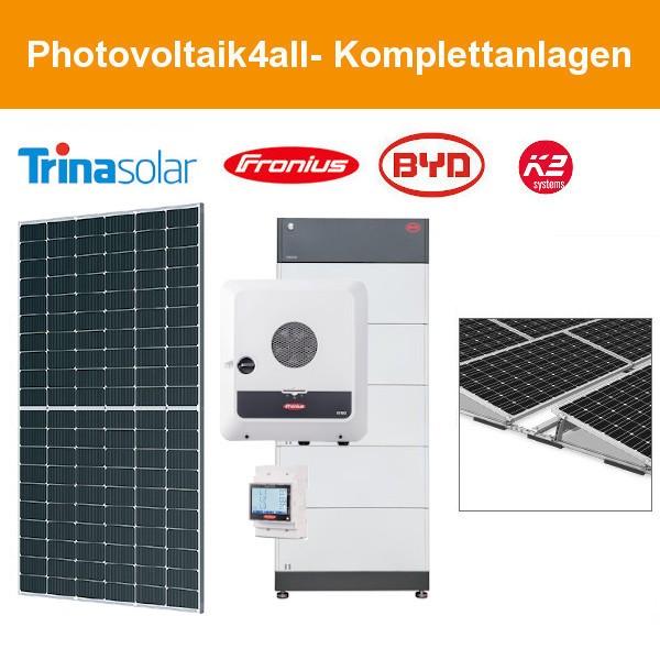 12 kWp Trina Solar Flachdach Ost-West mit BYD Speicher