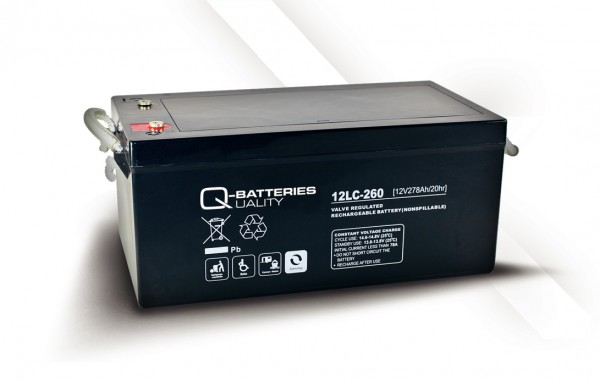 Q-Batteries 12LC-260 / 12V - 278Ah AGM Akku
