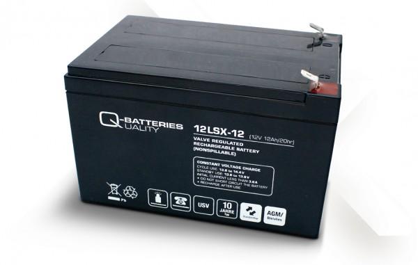 Q-Batteries 12LSX-12 / 12V - 12,2Ah Blei-Vlies-Akku