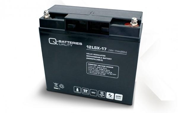 Q-Batteries 12LSX-17 / 12V - 17Ah Blei-Vlies-Akku