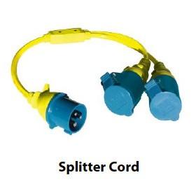 Splitterkabel CEE / 2x CEE