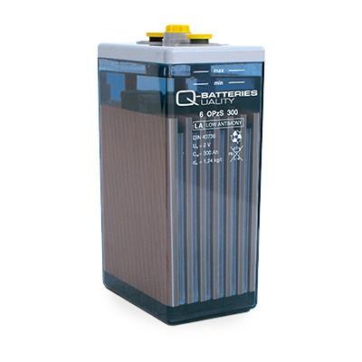Q-Batteries 12V Block 2 OPzS 100 / 107 Ah Blei-Säure
