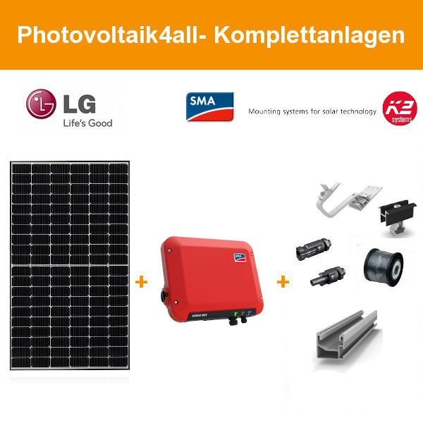1,5 kWp LG Solar LG385N1C-E6 NeON H - SMA Photovoltaikanlage